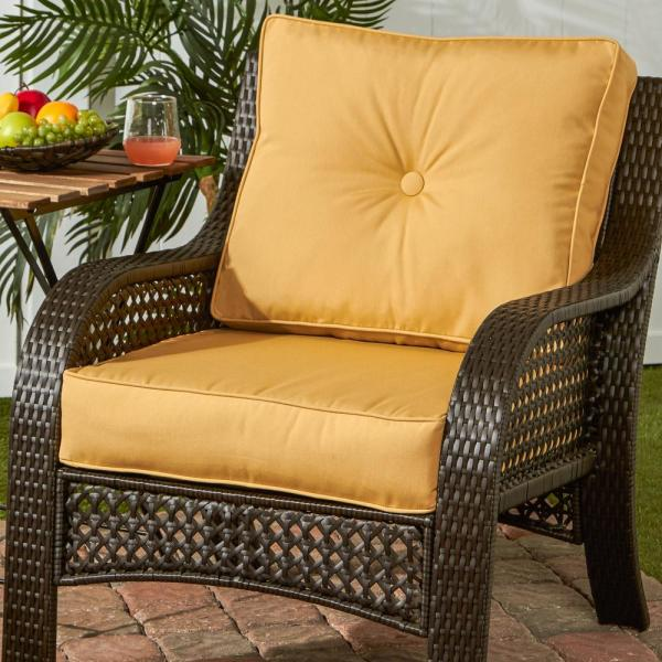 Sunbrella Wheat 2 Piece Deep Seating