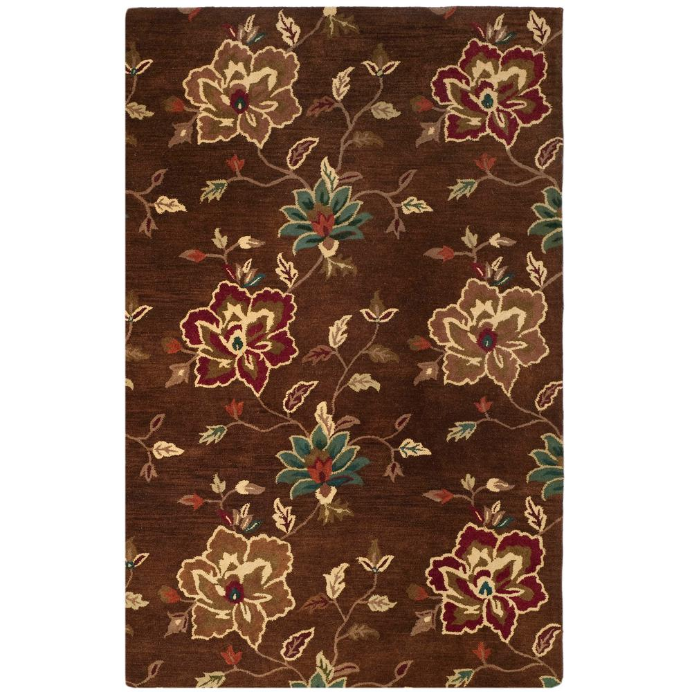 Jardin Brown/Multi 8 ft. x 10 ft. Area Rug