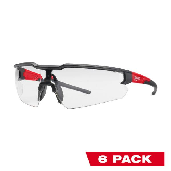 Safety Glasses with Clear Anti-Fog Lenses (6-Pack)