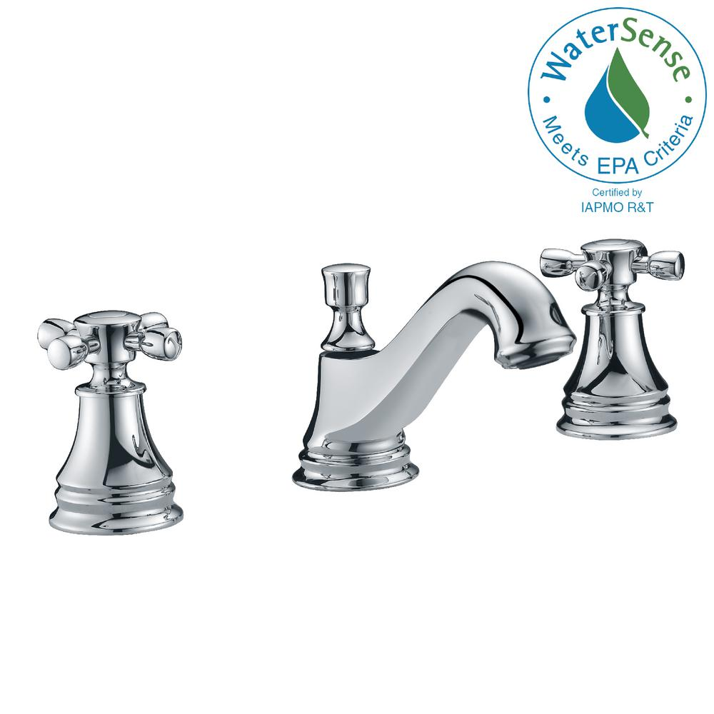 ANZZI Melody Series 8 in. Widespread 2-Handle Mid-Arc Bathroom Faucet in Polished Chrome