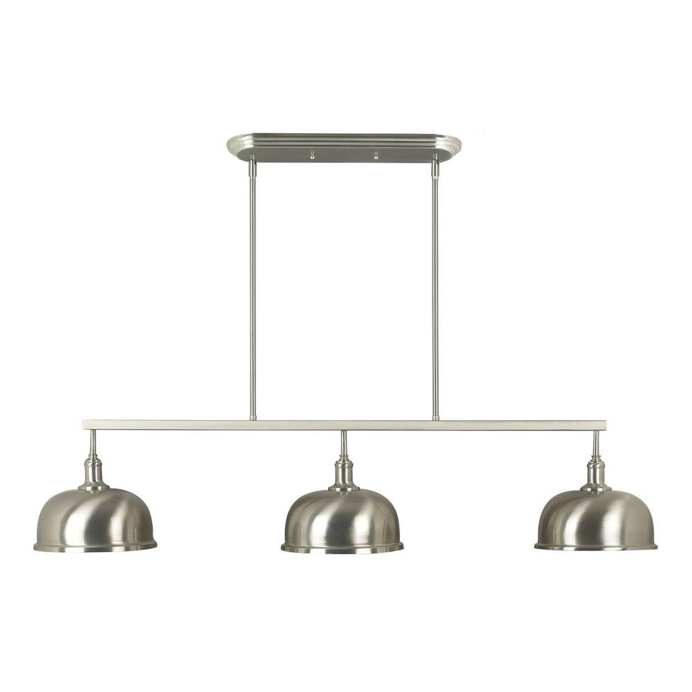 Kenroy Home Alice Light Brushed Steel Island LightBS The - Brushed steel kitchen ceiling lights