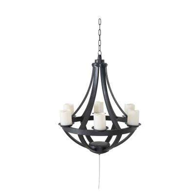 Francis Plastic Hanging Battery Operated LED Chandelier