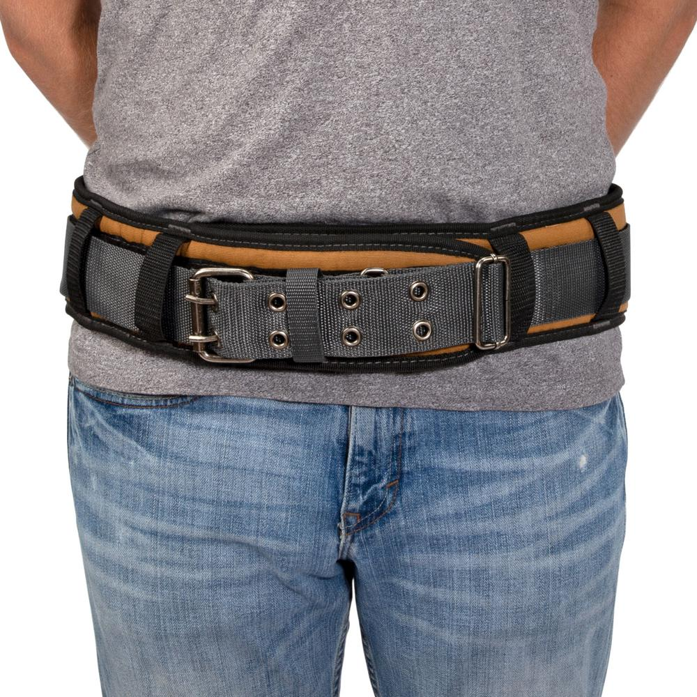 Padded Work Belt for Tool Pouches Holders Dickies Work Gear 57002 Grey//Tan 5 in