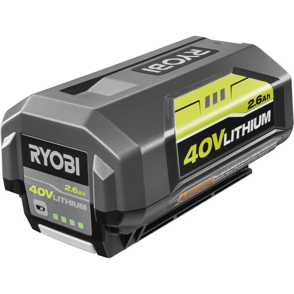 Ryobi 40 Volt Lithium Ion 26ah Battery Op4026a The Home Depot Diagram Besides Weed Eater Parts Also Electric