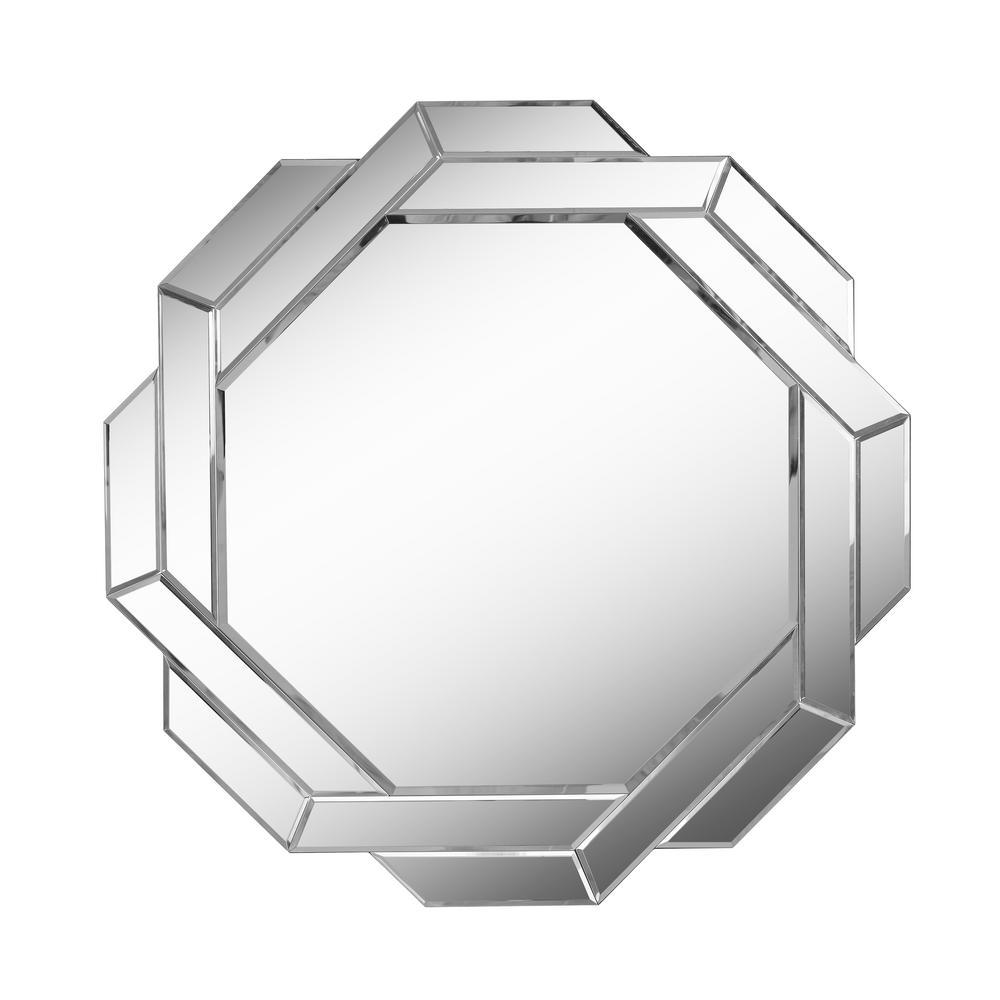 Junction Geometric Glass Decorative Wall Mirror