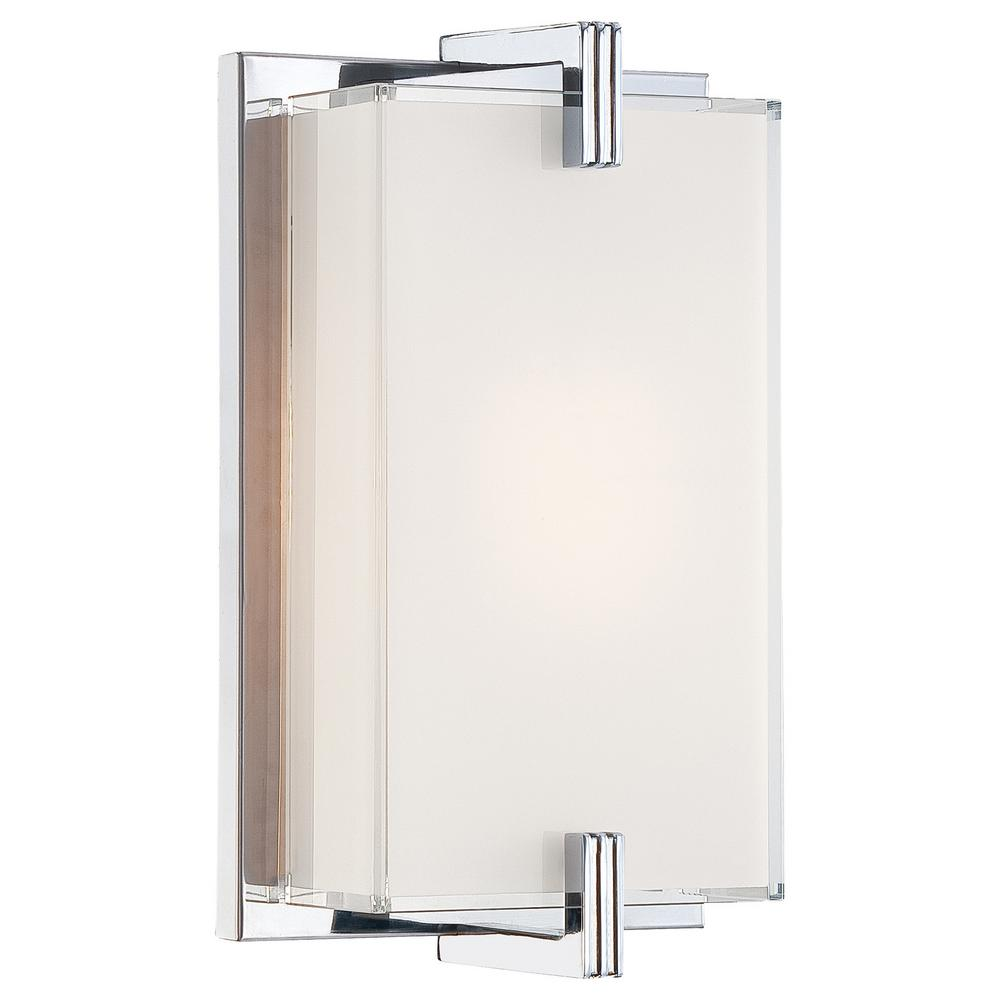 Cubism Bath Bar By George Kovacs: George Kovacs Cubism 1-Light Chrome Wall Sconce-P5210-077