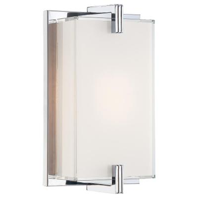 Cubism 1-Light Chrome Wall Sconce