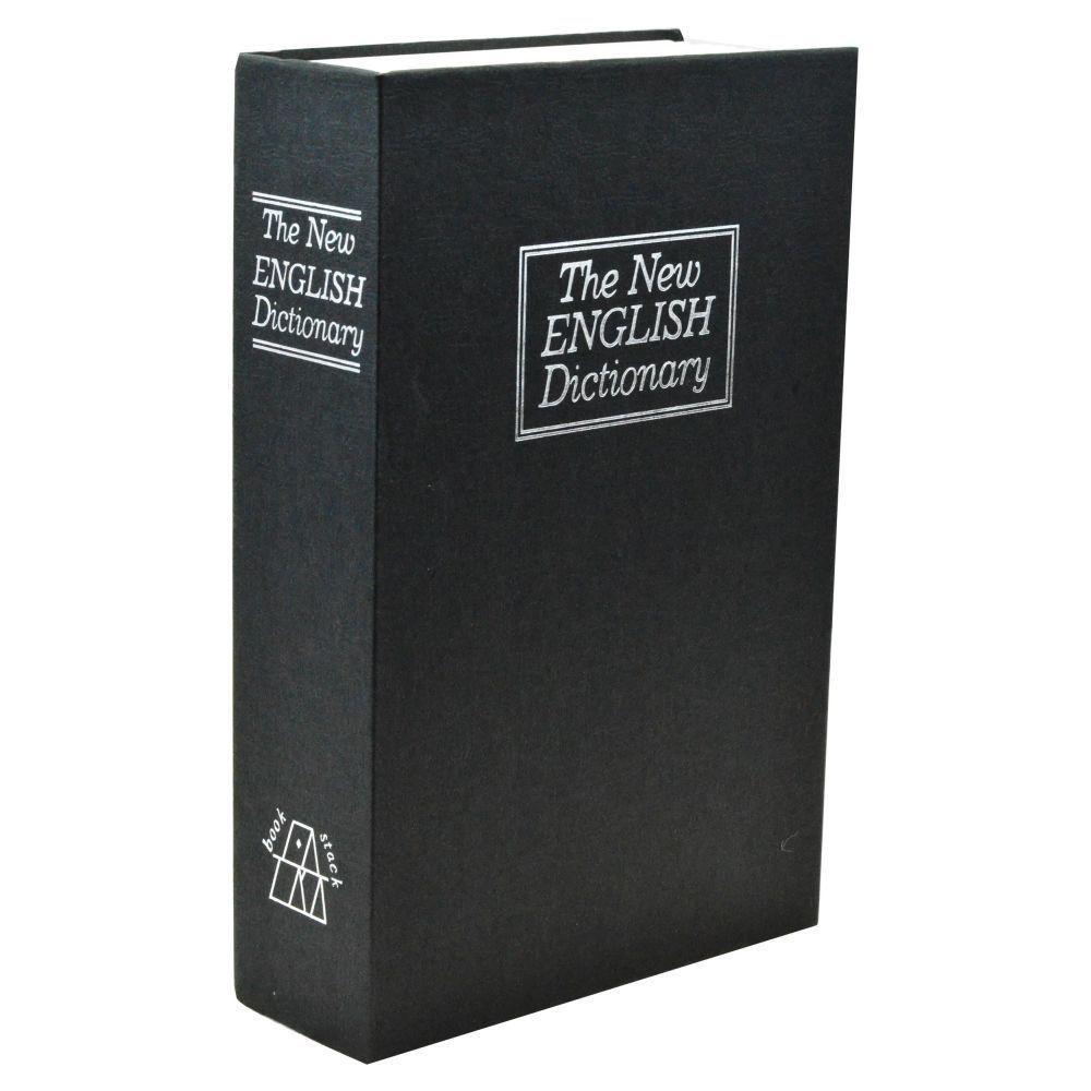 Medium New English Dictionary Book Safe Storage Bin, Black