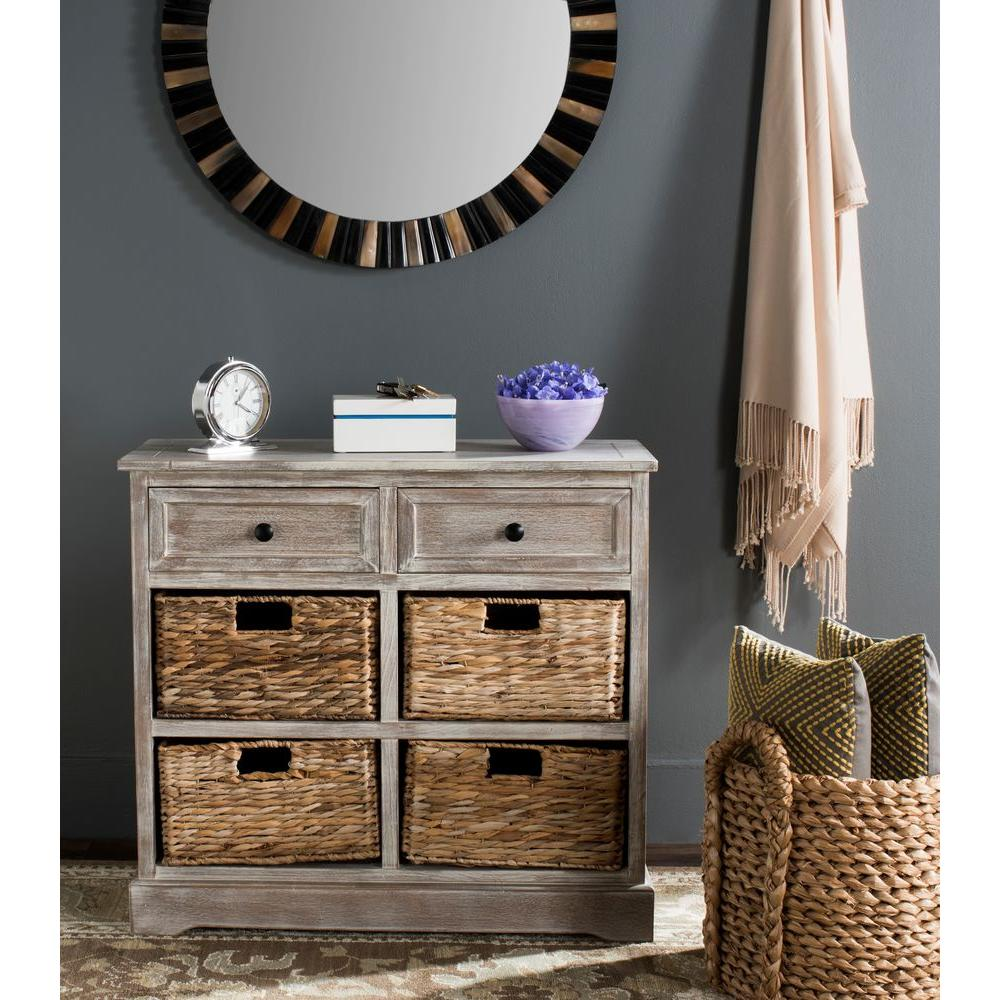 safavieh herman white washed chest-amh5702g - the home depot