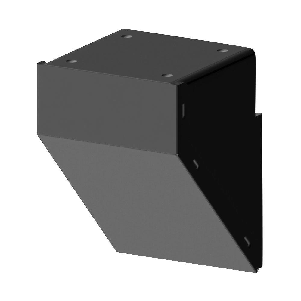 Black Aluminum Railing Fascia Mount Bracket ...