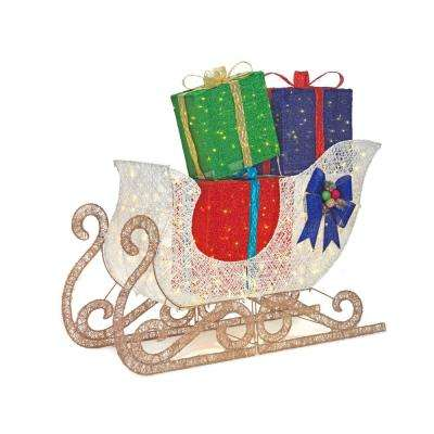 61 in. Christmas LED Jumbo Sleigh with Presents