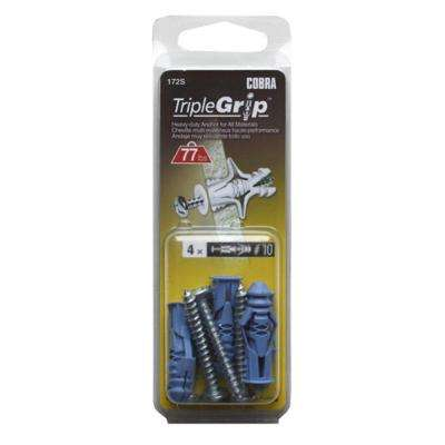 #10 1-1/2 in. Anchors with Screws (4-Pack)
