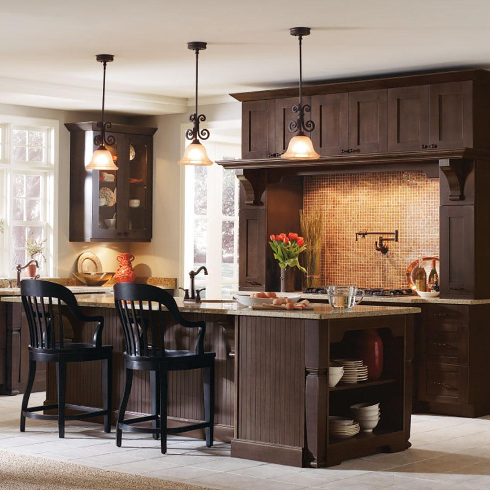 Thomasville Nouveau Custom Kitchen Cabinets Shown In Farmhouse Style Hdinststslpw The Home Depot