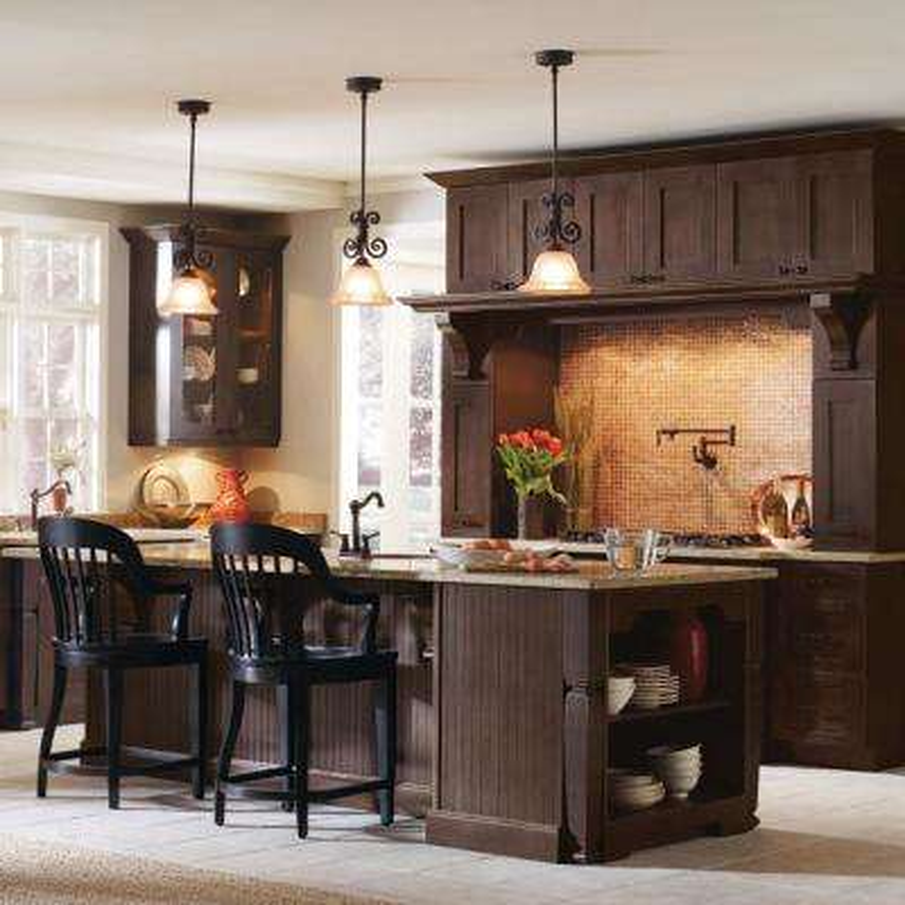 Nouveau Custom Kitchen Cabinets Shown in Farmhouse Style