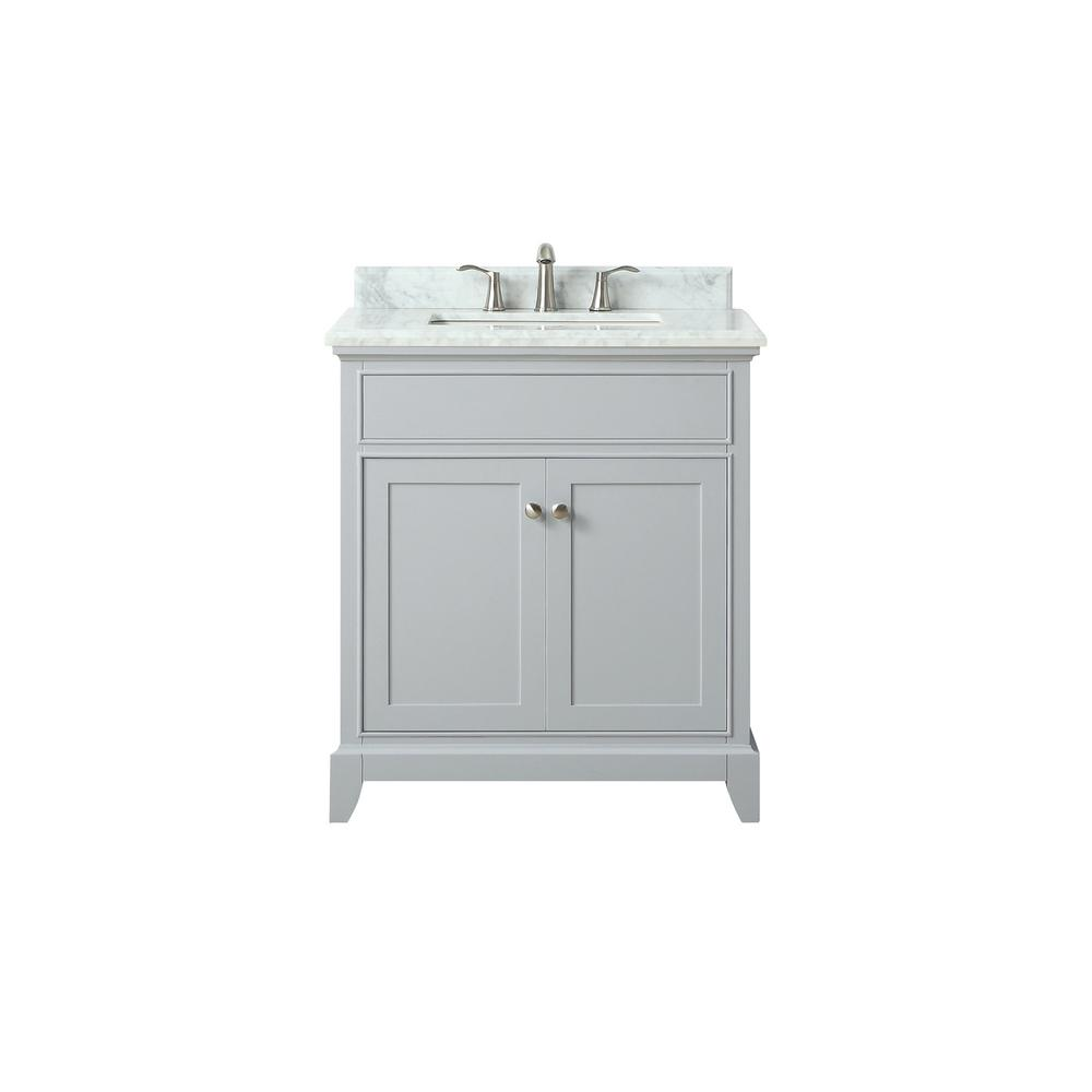 Light Gray Vanity Top : Azzuri Aurora 31 in. Wx22 in. Dx34.5 in. H Vanity in Light Gray with Marble Vanity Top in ...