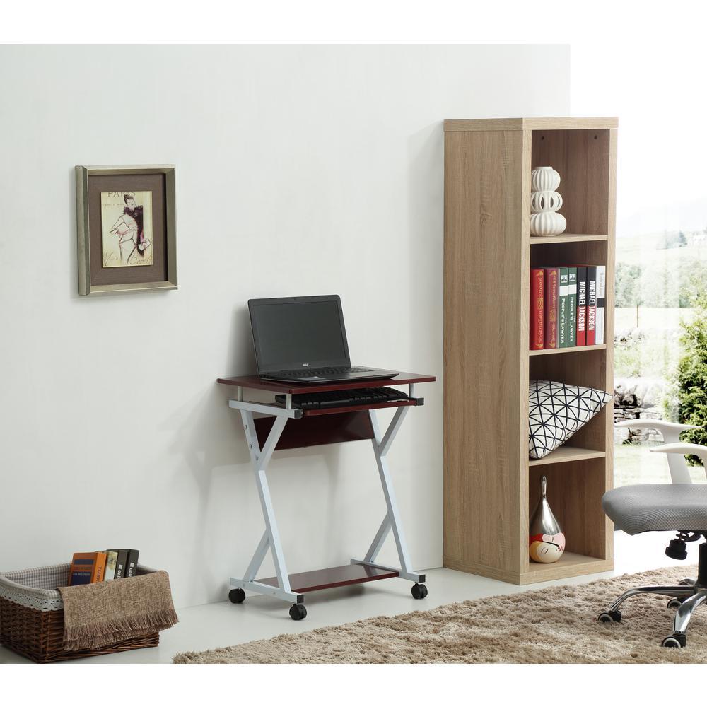 Wood Top Laptop Desk in Mahogany
