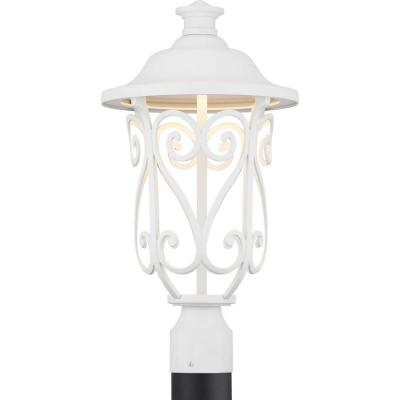 Leawood Collection 1-Light Outdoor White Integrated LED Post Light