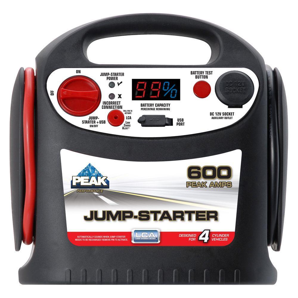 Peak 600 Peak 300 Amp Jump Starter Pkc1j6 The Home Depot