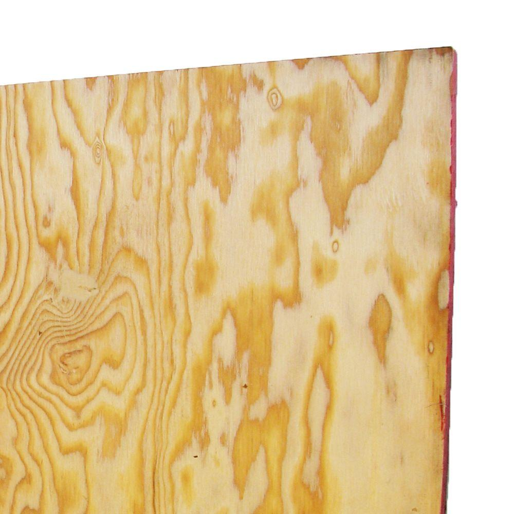 Exterior Plywood Home Depot: 5/8 In. X 4 Ft. X 8 Ft. MDO Plywood Lumber-12727