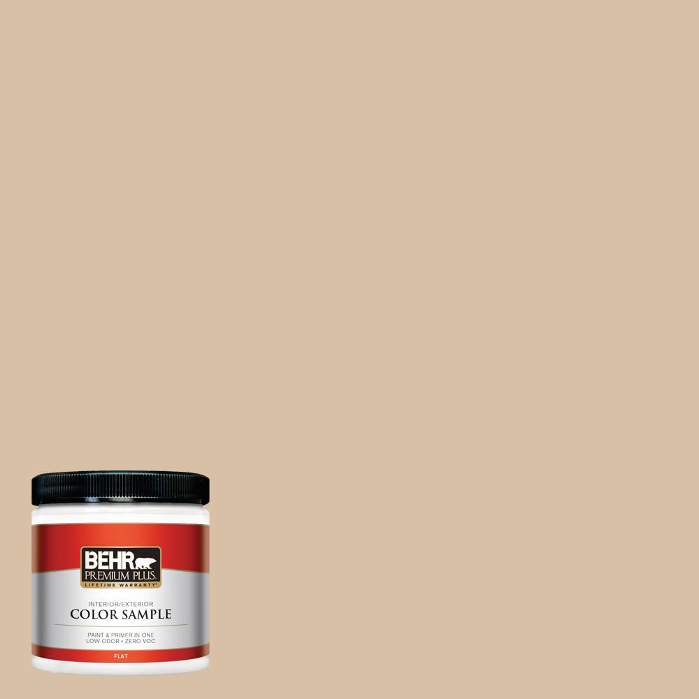 BEHR Premium Plus 8 oz. #HDC-SM14-3 Concept Beige Interior/Exterior Paint Sample