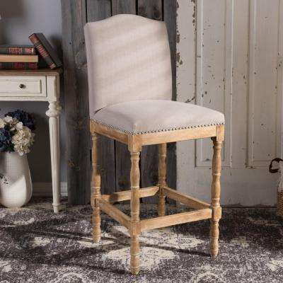Paige Beige Fabric Upholstered Bar Stool