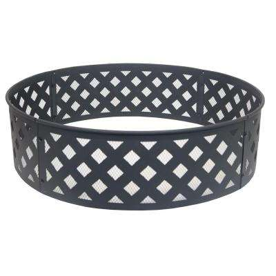 30 in. Steel Fire Ring with Lattice Pattern
