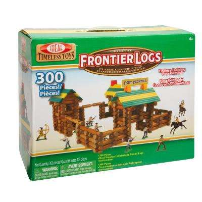 Frontier Logs 300-Piece Classic Wood Construction Set with Action Figures