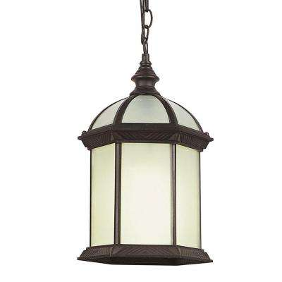 Stewart Ceiling 1-Light Outdoor Rust Black CFL Pendant