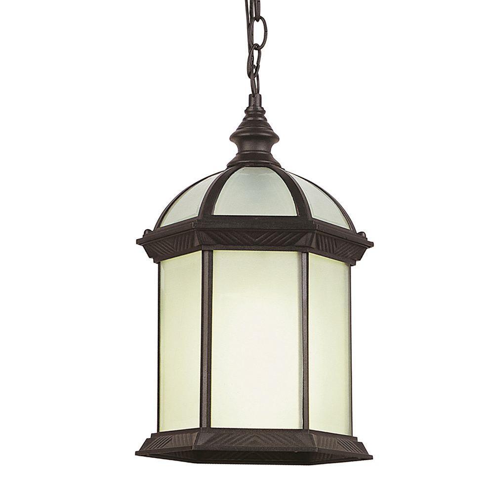 Stewart Ceiling 1-Light Outdoor Rust Black CFL Pendant