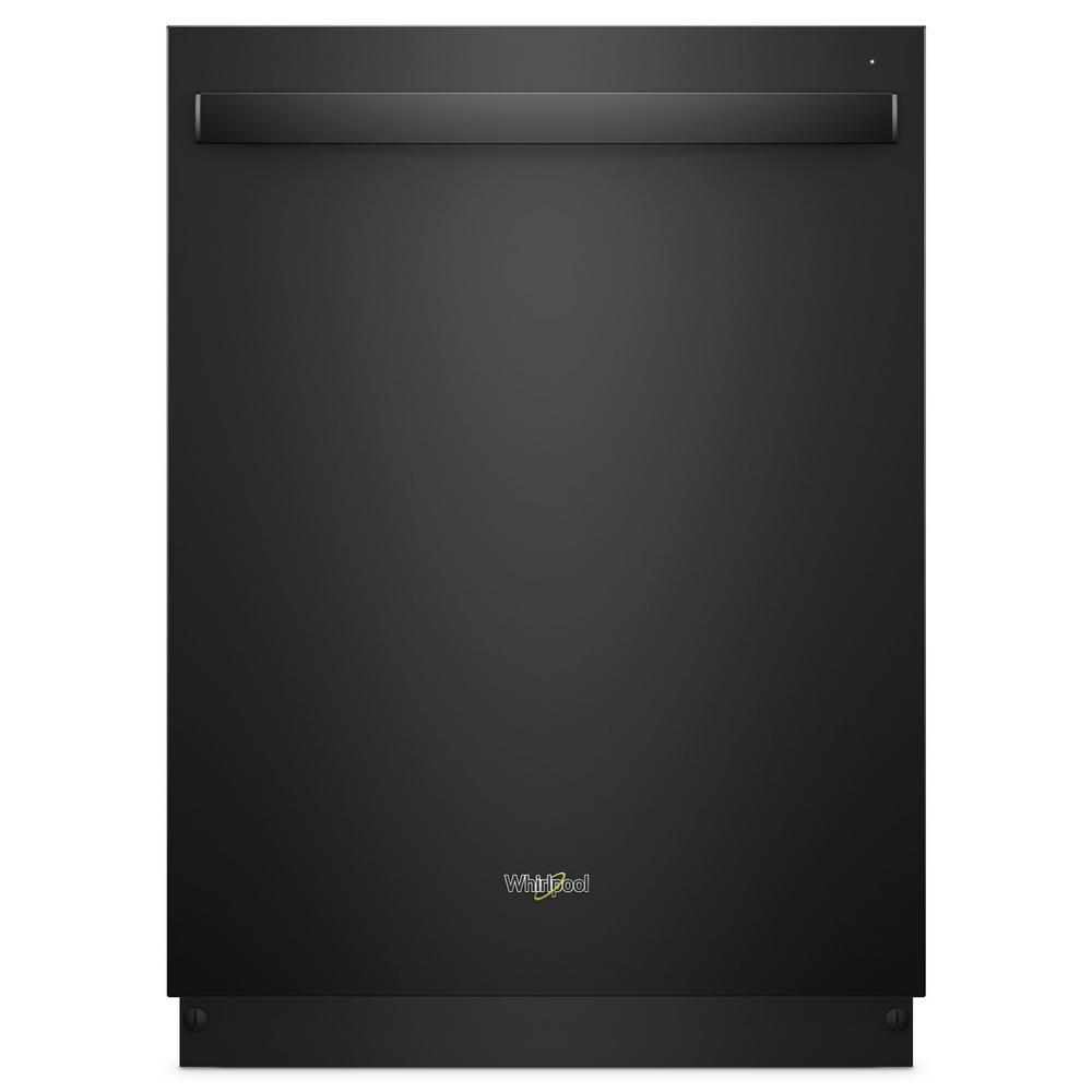 Whirlpool 24 in. Top Control Built-In Tall Tub Dishwasher in Black ...