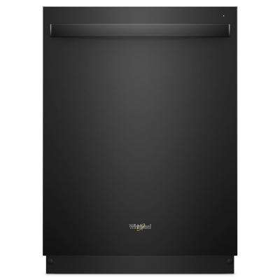 Top Control Built-In Tall Tub Dishwasher in Black with Stainless Steel Tub
