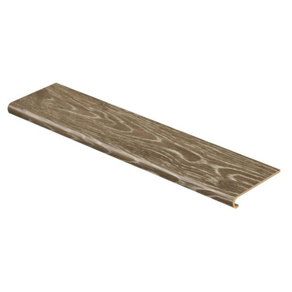Khaki Oak 47 in. Length x 12-1/8 in. Deep x 1-11/16 in. Height Vinyl Overlay to Cover Stairs 1 in. Thick