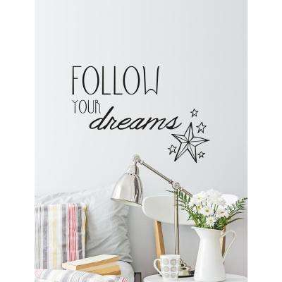 (26.4 in x 18.5 in) Follow Your Dreams Wall Decal