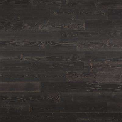 1/8 in. x 4 in. x 12-42 in. Peel and Stick Black Wooden Decorative Wall Paneling (10 sq. ft./Box)