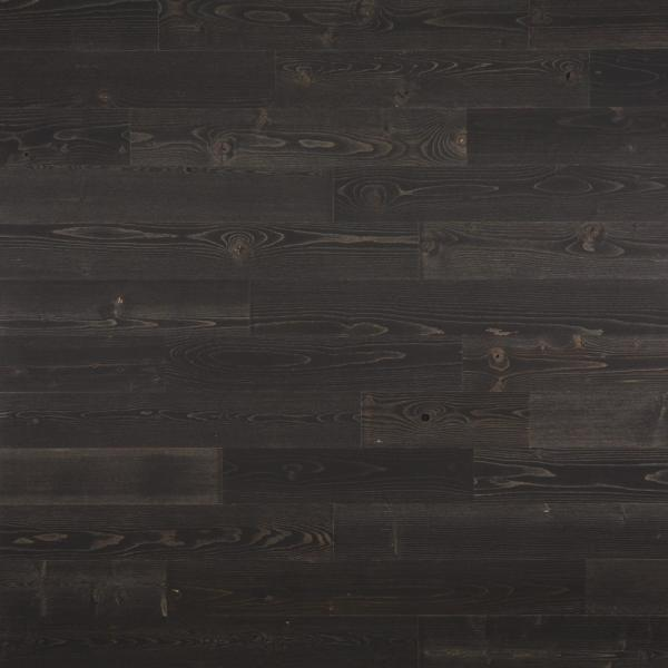 Timberchic 1/8 in. x 4 in. x 12-42 in. Peel and Stick Black Wooden Decorative Wall Paneling (10 sq. ft./Box)