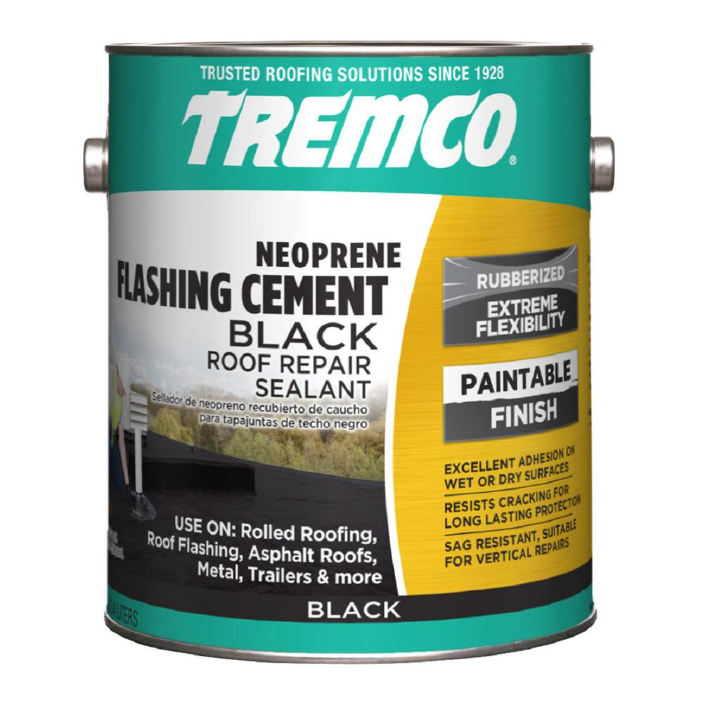 Tremco 0 9 Gal Neoprene Black Roofing Cement Patch 346556