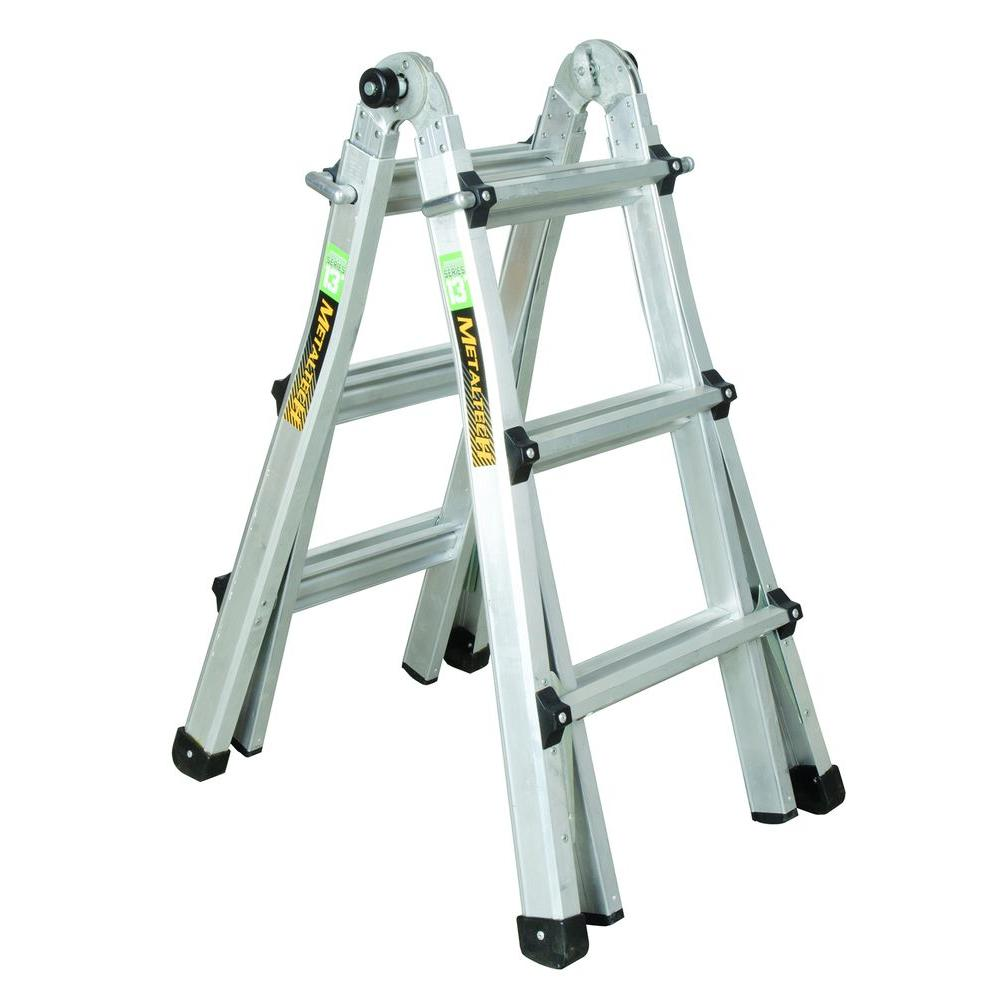 aluminum telescoping ladder with 300 lb load the home depot