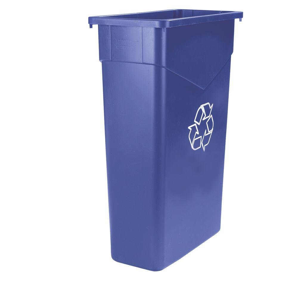 Carlisle TrimLine 15 Gal. Blue Imprinted Recycling Waste ...