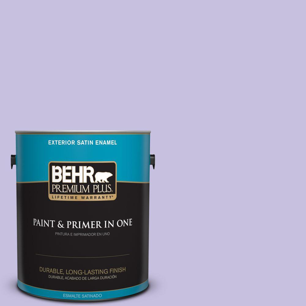 1-gal. #640B-4 Innuendo Satin Enamel Exterior Paint