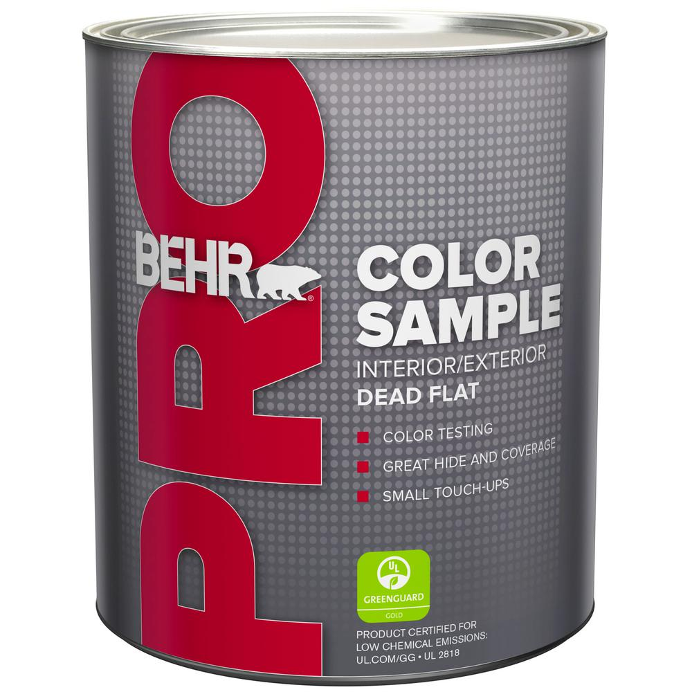 Behr premium plus 1 qt ultra pure white flat exterior for Behr pro paint