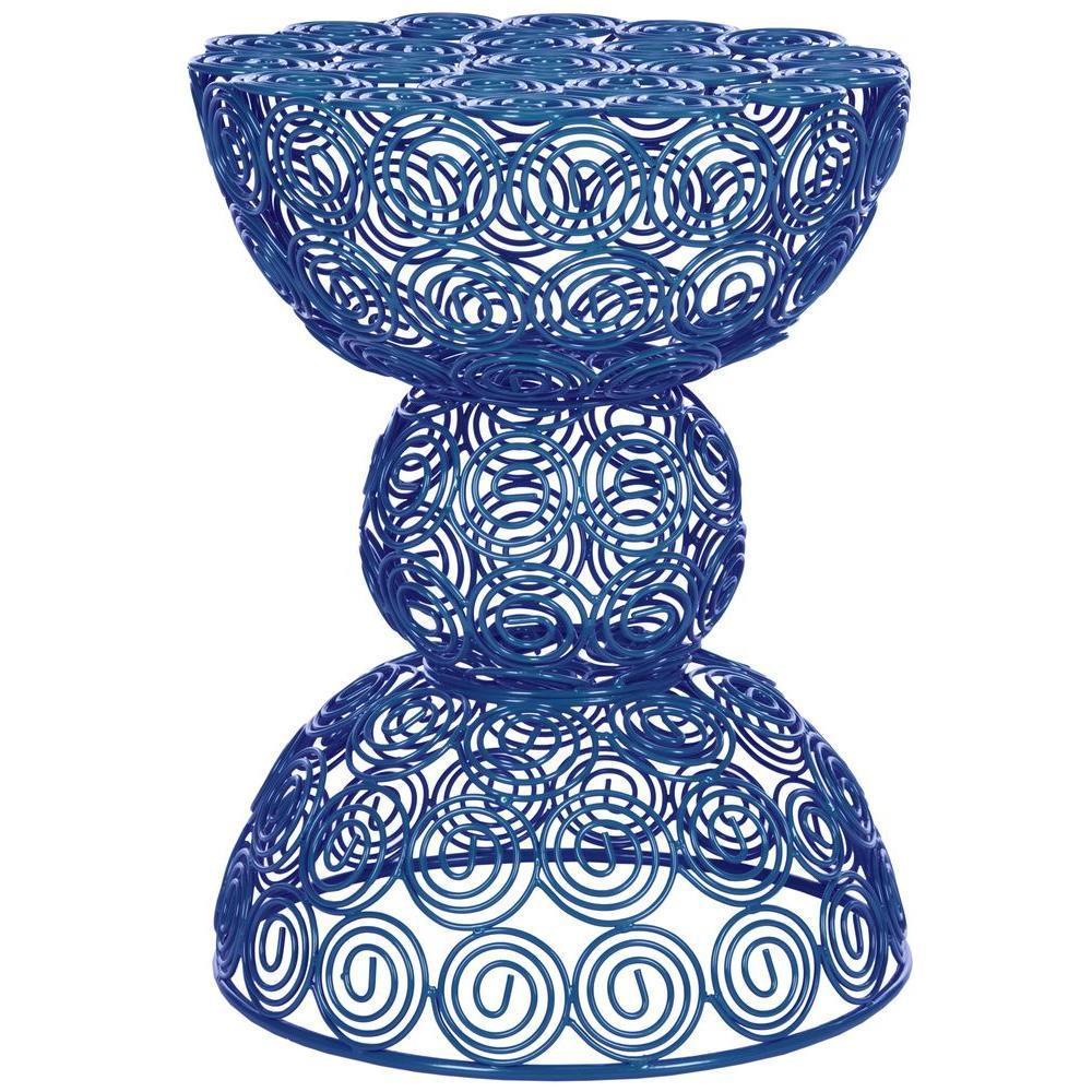 Leila Dark Blue End Table