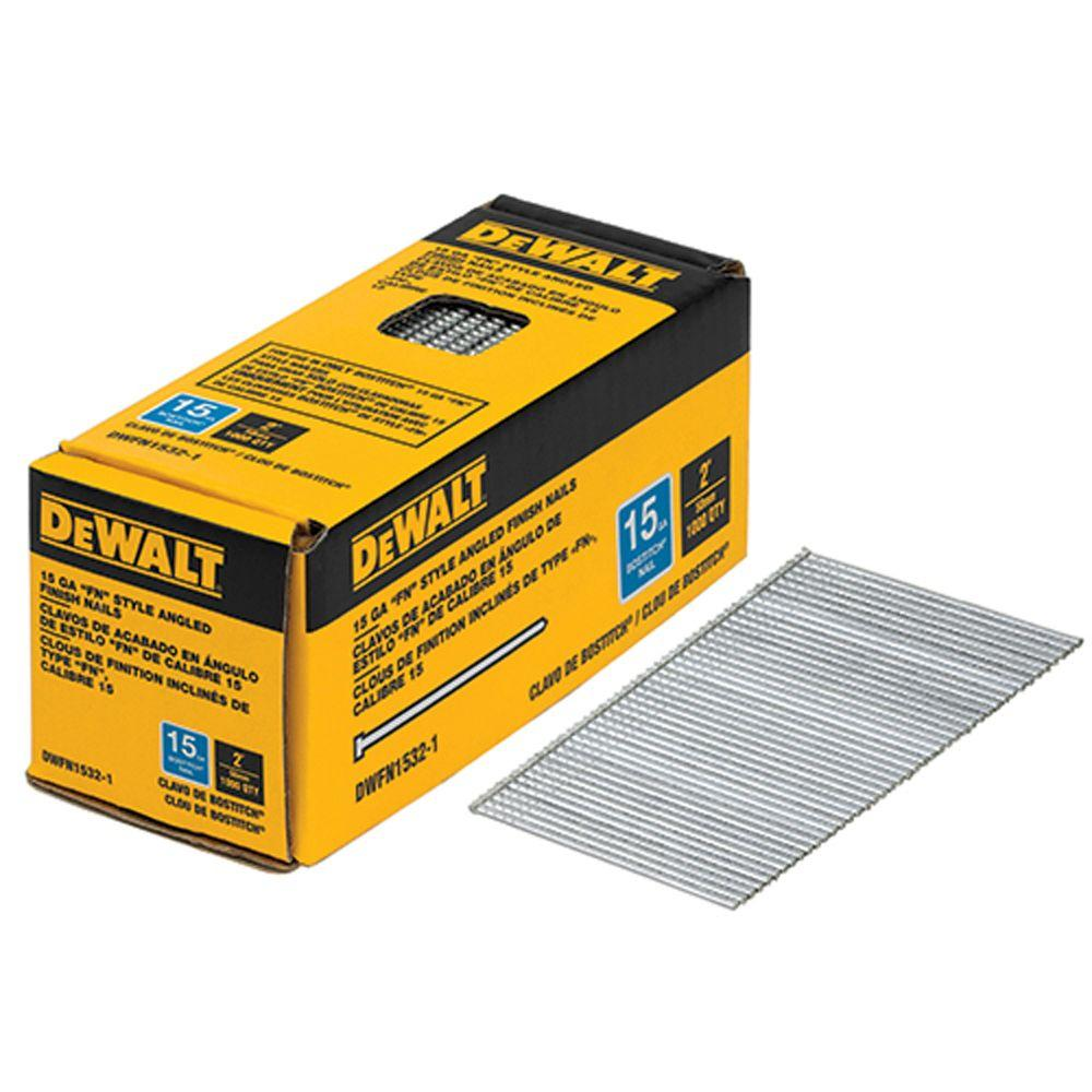 Finish Nail 16 Gauge X 2 In Steel 2500 Per Box Glue Collated Nails Bright Finish