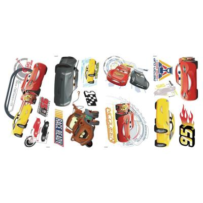 5 in. x 11.5 in. Red Disney Pixar Cars 3 15-Piece Peel and Stick Wall Decals