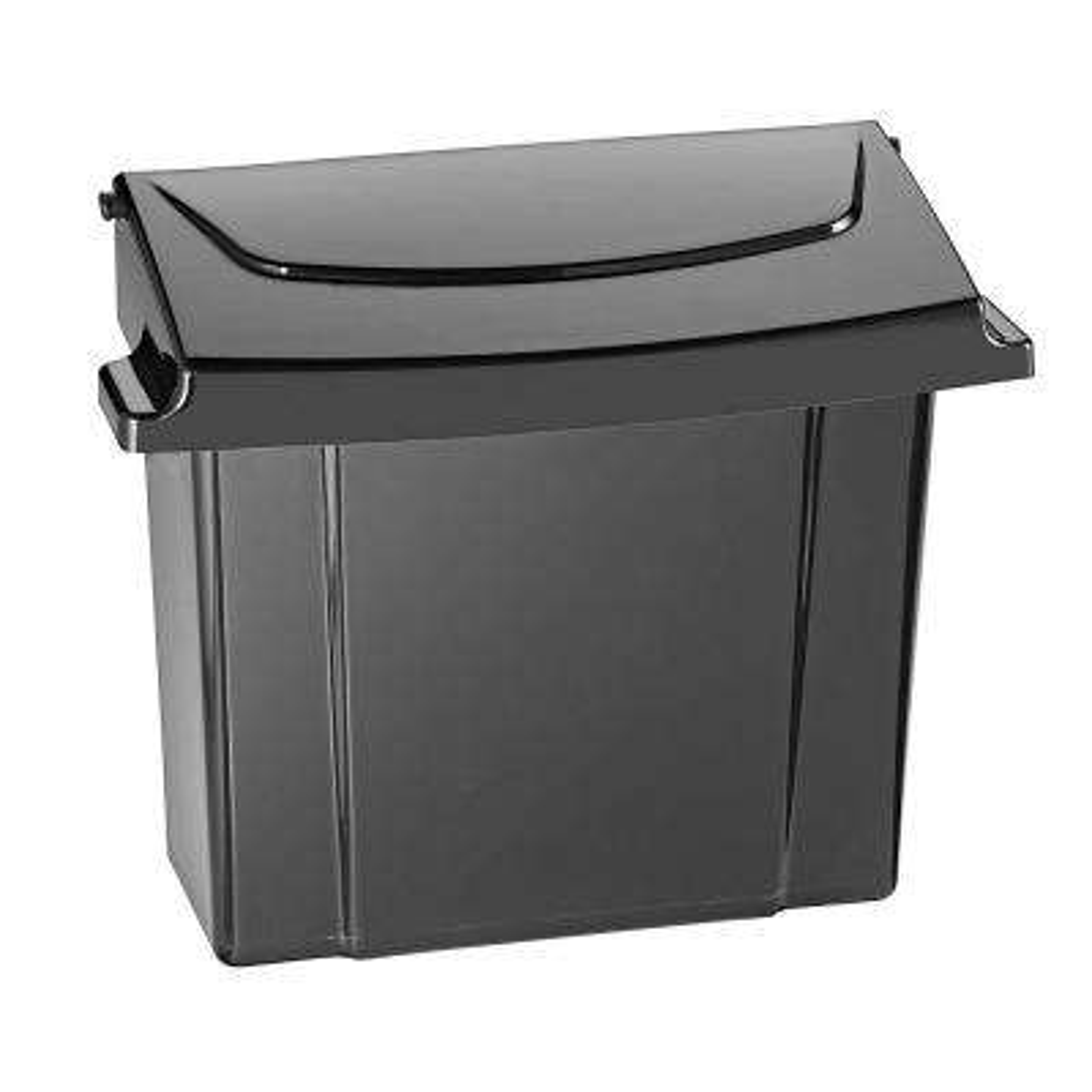 Black Durable Plastic Sanitary Napkin Receptacle