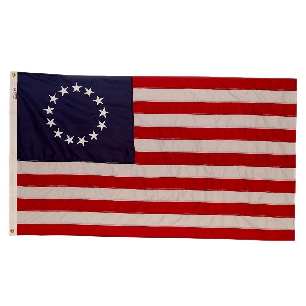 Valley Forge Flag 3 Ft. X 5 Ft. Nylon 13-Star U.S. Flag