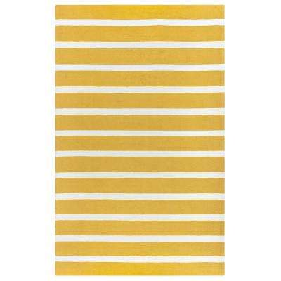 Azzura Hill Yellow Striped 9 ft. x 12 ft. Indoor/Outdoor Area Rug