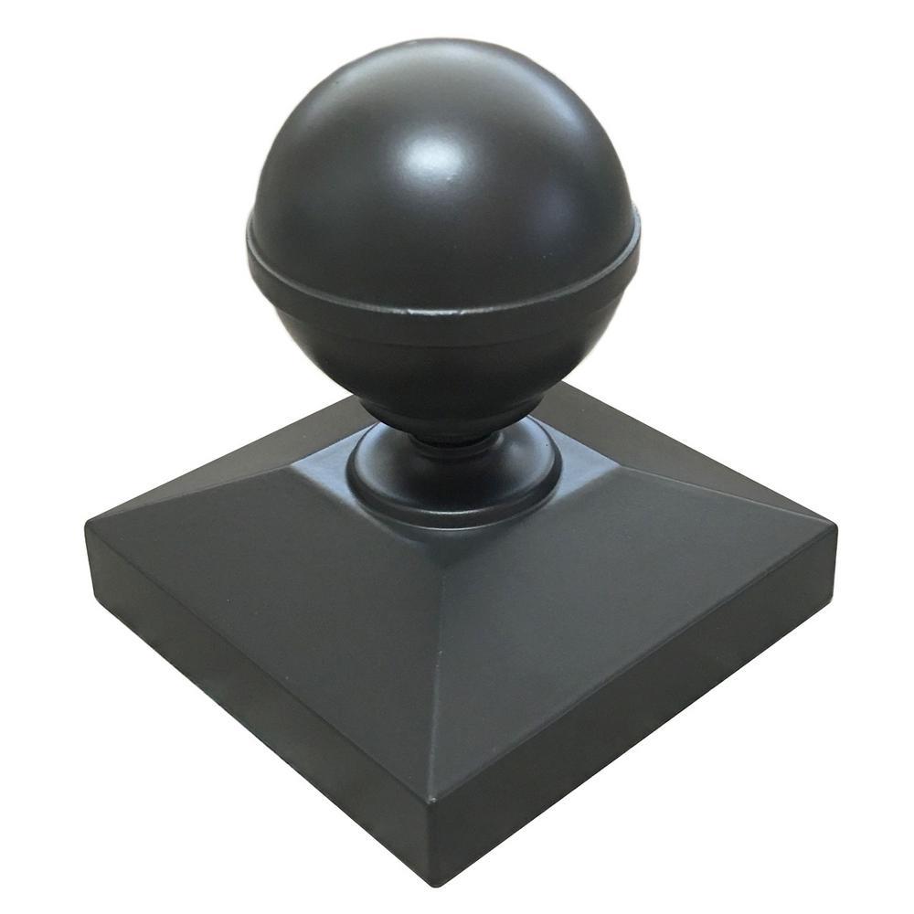3 in. x 3 in. Bronze Ball Post Cap for EZ Handrail Posts