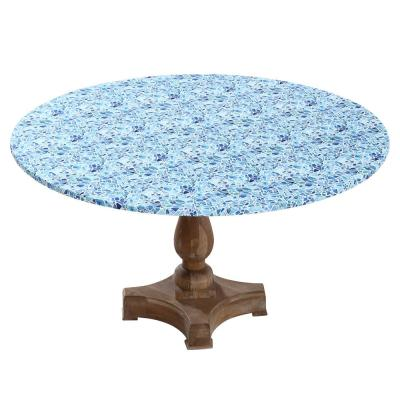 """42"""" Cotton Fabric Fitted Table Cover, Mosaic"""
