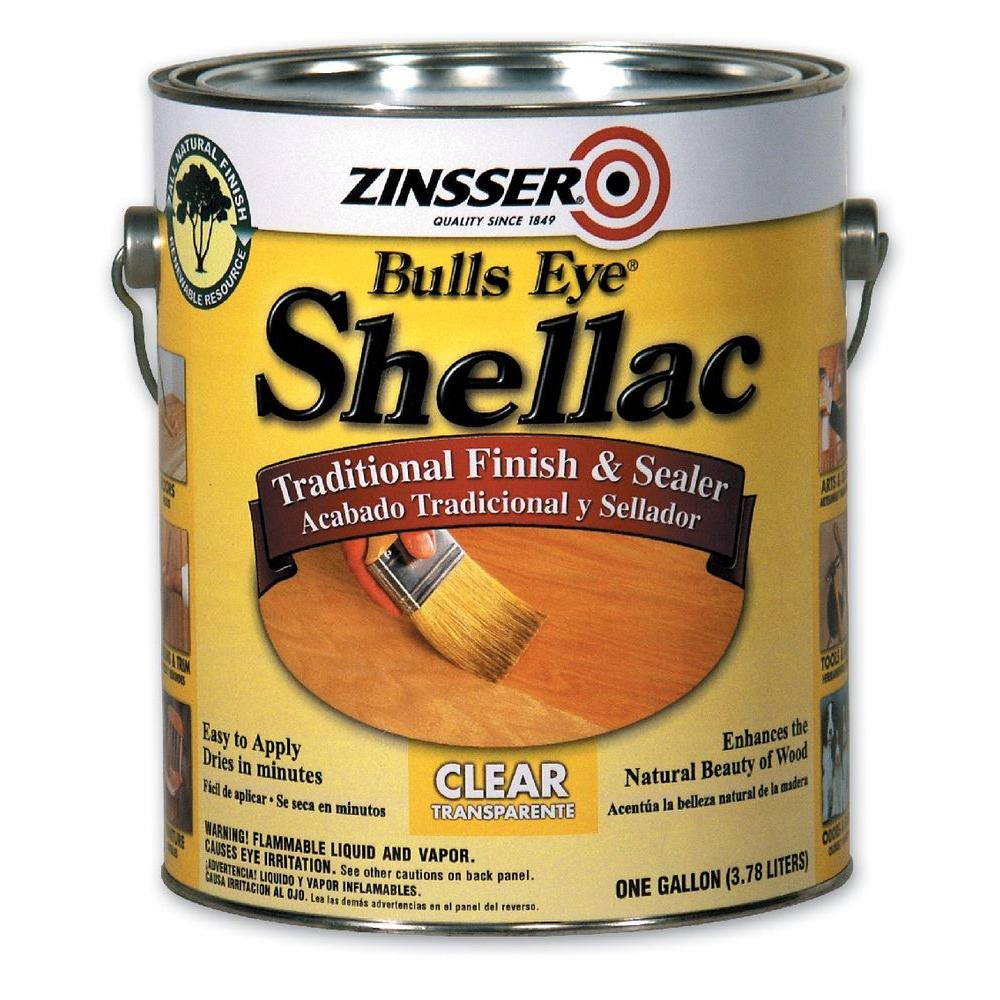 Zinsser 1 Gal Clear Shellac Traditional Finish And Sealer 00301 The Home Depot