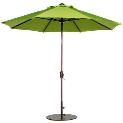 9 ft. Market Outdoor Table Umbrella with Auto Tilt and Crank Patio Umbrella in Lime Green